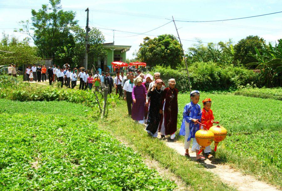 Một hình ảnh đẹp về đám cưới ở làng quê.