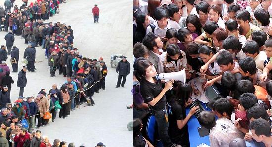 Hai hình ảnh tương phản ở nước ngoài và... ở ta.