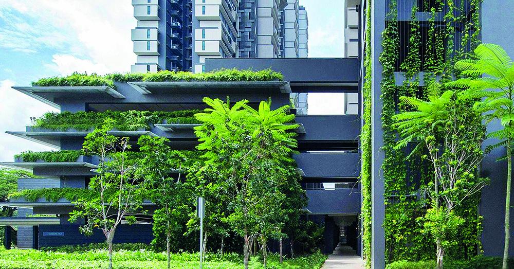 Mô hình thiết kế 4 tầng gửi xe trên mặt đất tại Singapore. (Ảnh: Tạp chí kiến trúc).