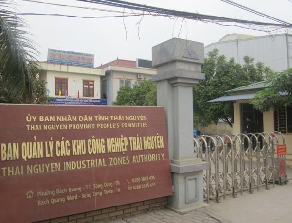 Ban Quản lý các khu công nghiệp tỉnh Thái Nguyên