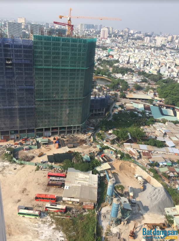 Dự án đang tiến hành xây dựng phần nhà chung cư