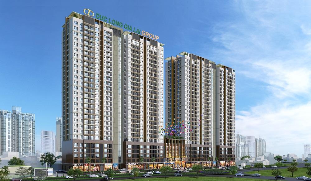 dự án Đức Long Golden Land (Trung tâm thương mại dịch vụ và căn hộ cao cấp Sunshine Apartment tại phường Tân Thuận Tây, quận 7, TP.HCM)