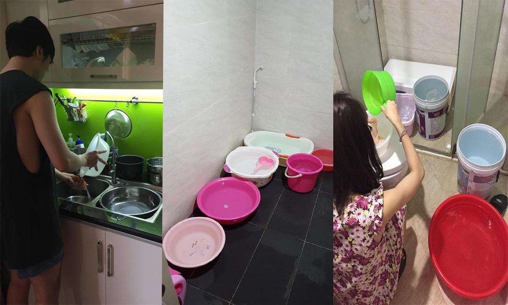 Cư dân Thăng Long Tower lao đao vì thiếu nước sinh hoạt