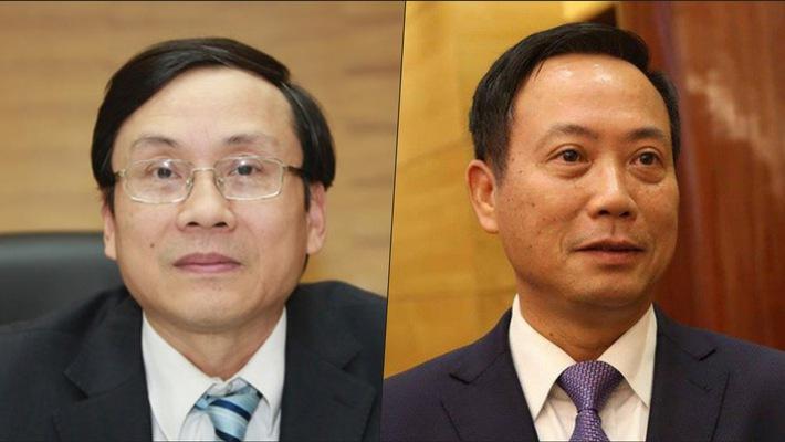 Ông Vũ Bằng, thành viên Tổ Tư vấn kinh tế của Thủ tướng (bên trái) và ông Trần Văn Dũng, Chủ tịch Uỷ ban Chứng khoán Nhà nước
