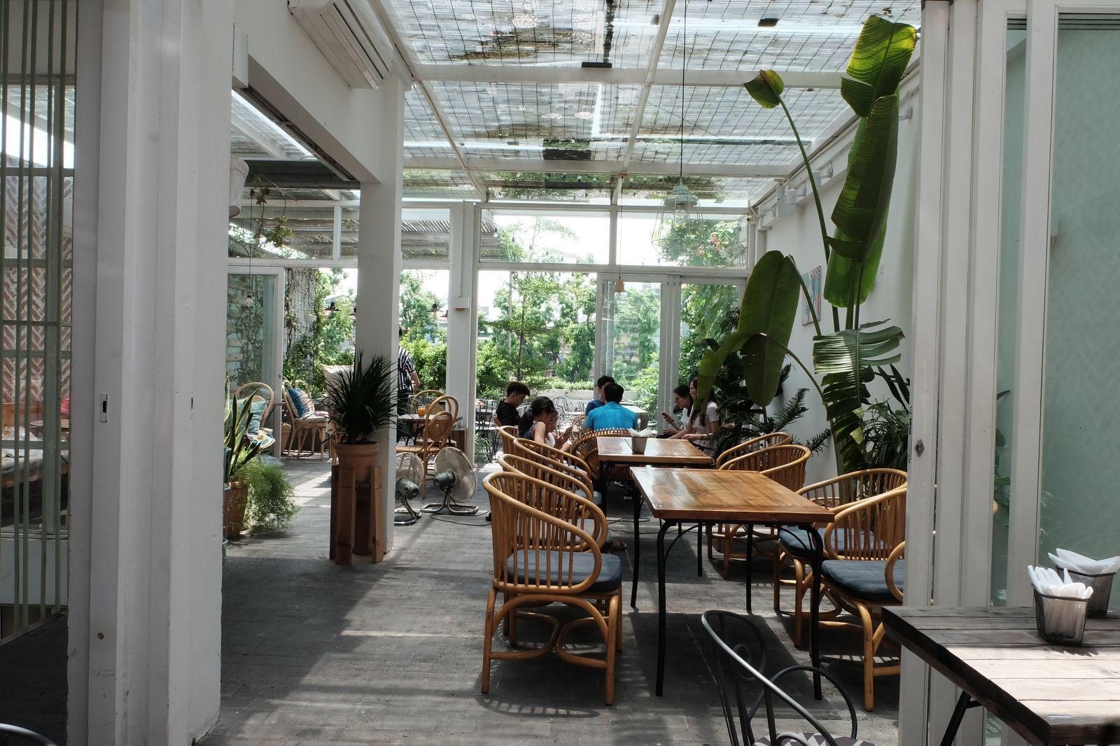 Cà phê xanh: Nơi chốn thoáng đãng và trong lành giữa lòng Hà Nội
