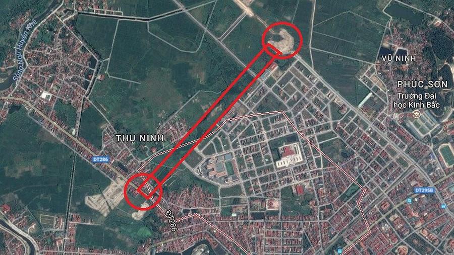 Tỉnh Bắc Ninh sẵn sàng chi ra... 663 tỷ đồng, cỡ khoảng 30 triệu USD cho con đường chưa đầy 1,4km.