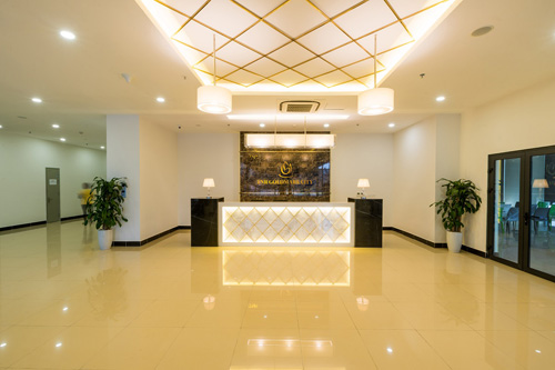 Là khu đô thị đẳng cấp bậc nhất phía tây thủ đô, TNR Goldmark City sử dụng các vật liệu cao cấp và thiết kế sang trọng hiện đại.