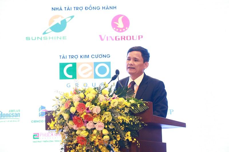 Ông Nguyễn Trọng Ninh, Cục trưởng Cục Quản lý nhà và thị trường bất động sản, Bộ Xây dựng phát biểu tại IREC 2018.