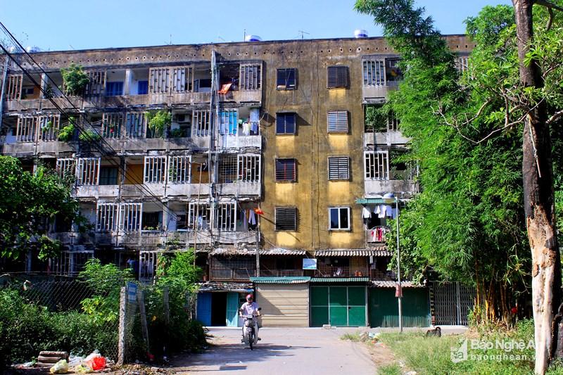 Một góc chung cư Quang Trung hiện nay (Nguồn ảnh: Báo Nghệ An)