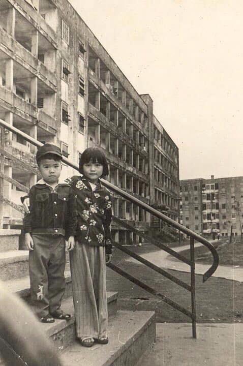 Một góc khu nhà B - chung cư Quang Trung năm 1984 (nhân vật cung cấp)