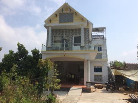 Căn nhà tại điểm du lịch homestay của ông Bé Tư