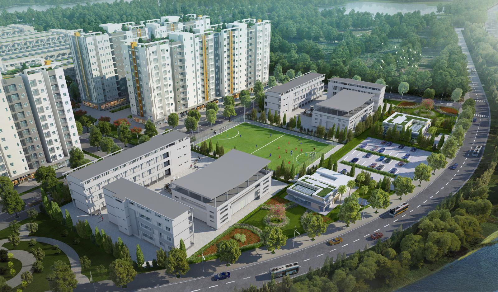 """Dành phần lớn diện tích để xây dựng không gian phát triển cộng đồng, Him Lam Green Park - """"thước đo"""" của đô thị sáng tạo và sống tốt."""