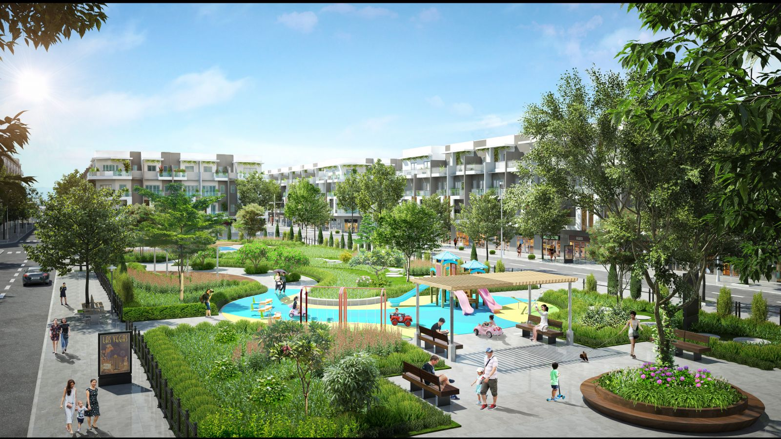 Những khoảng xanh lớn tại dự án tạo môi trường sống trong lành, thân thiện cho cộng đồng cư dân Him Lam Green Park