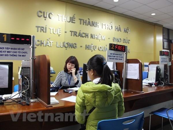 Hoạt động tại Cục Thuế Hà Nội. (Nguồn: Vietnam+)