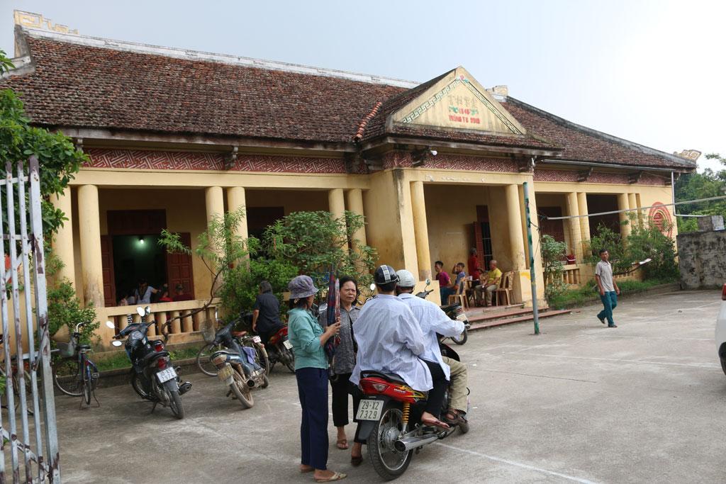 Nhà văn hóa làng Cựu, nơi sinh hoạt của bà con trong thôn