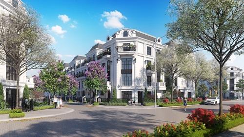 """""""Một góc Paris"""" tại Elegant Park Villa (Thạch Bàn, Long Biên, Hà Nội)."""