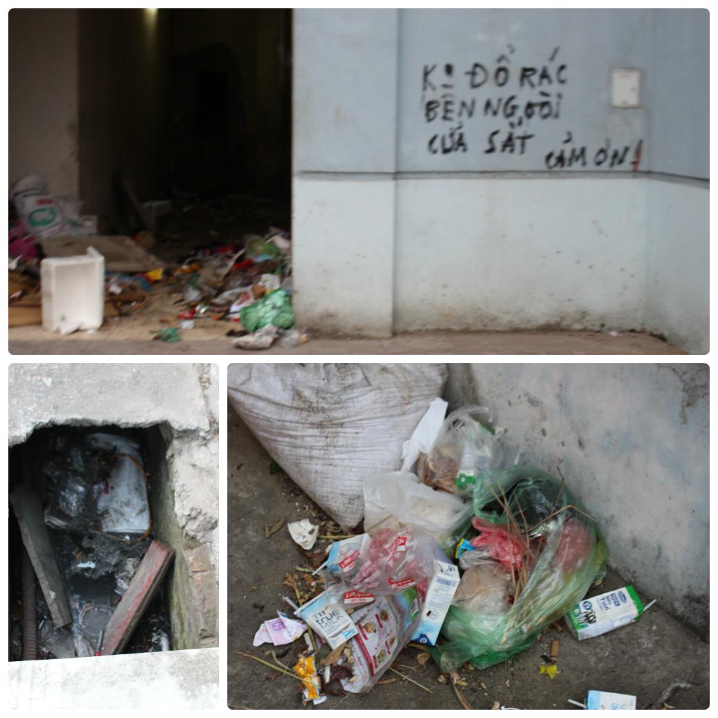Nước thải, rác thải không được xử lý.