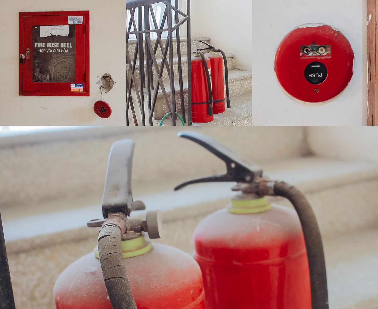 Hệ thống phòng cháy chữa cháy không được quan tâm, hư hỏng đã lâu nhưng không được sửa chữa hay thay mới.