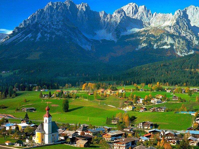 thiên nhiên thanh bình tại các ngôi làng ngoại ô thành phố