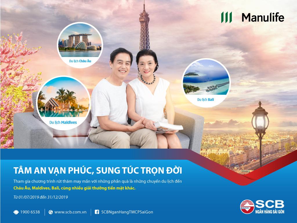 """Cơ hội du lịch châu Âu với chương trình """"Tâm an vạn phúc - Sung túc trọn đời"""" của SCB"""