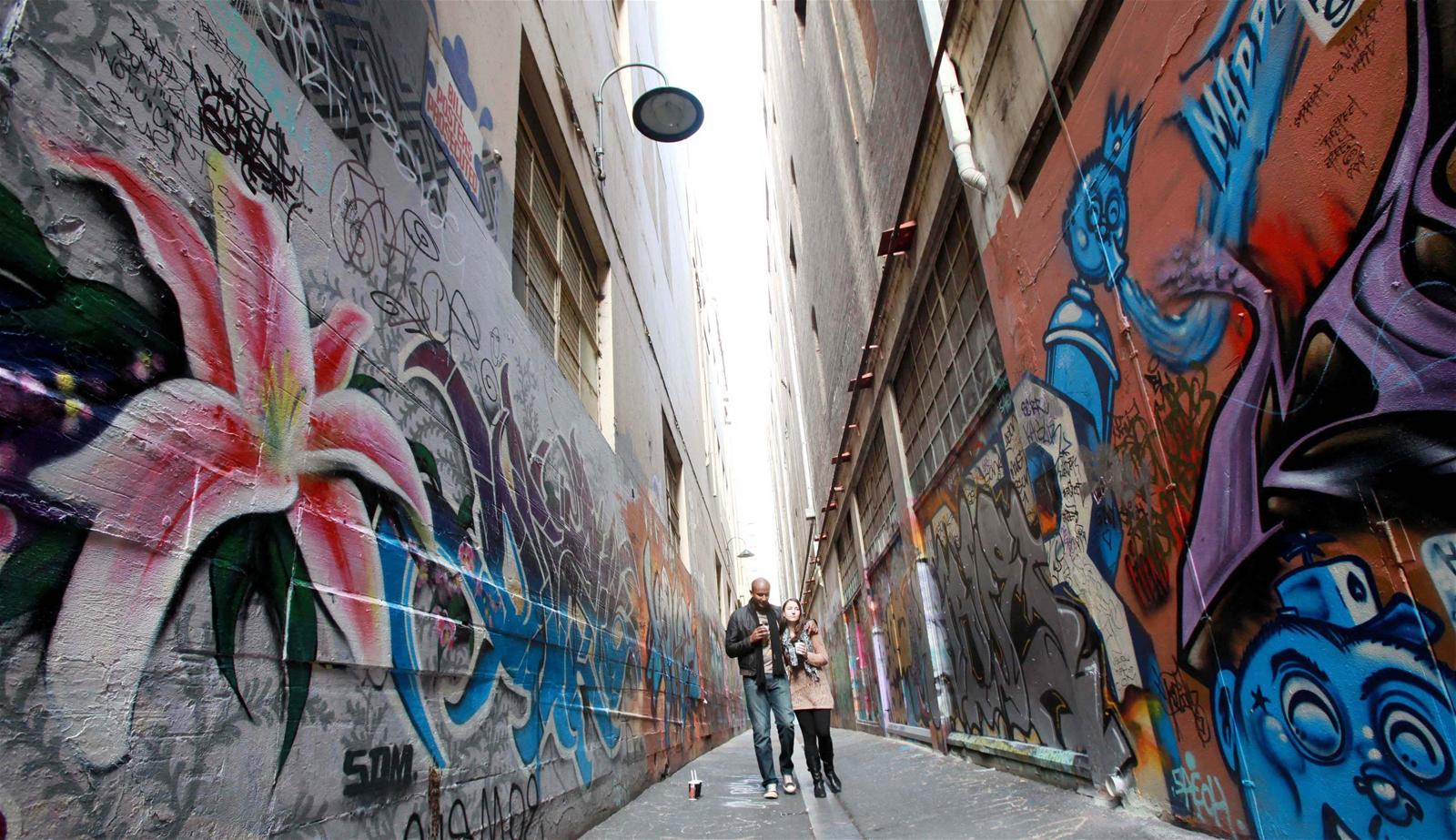 Graffiti - Bảo tàng nghệ thuật ngoài trời ở Melbourne
