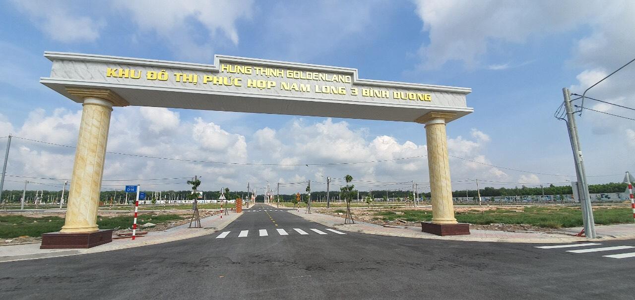 Cổng chào của dự án Khu nhà ở Nam Long 3