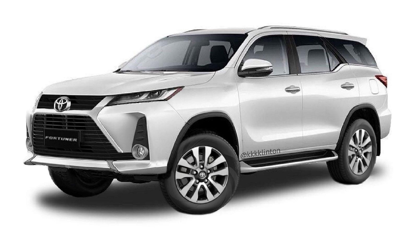 Toyota Fortuner 2021 lộ diện qua ảnh dựng