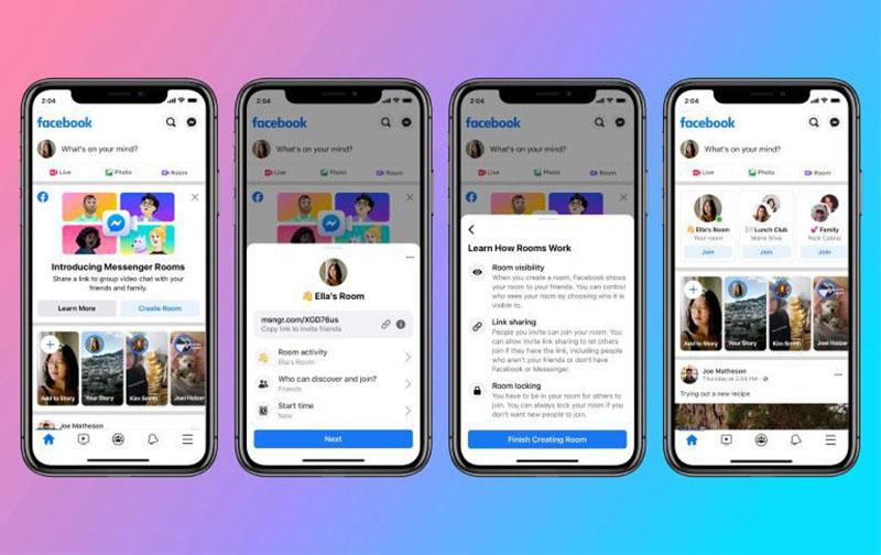Facebook phát hành tính năng gọi video nhóm Messenger Rooms
